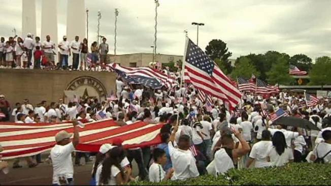 Thousands Rally in Dallas for Immigration Reform