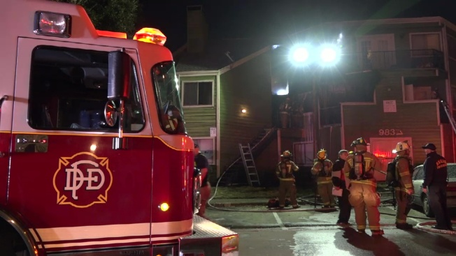 Residents Escape Fire at Dallas Apartment Building