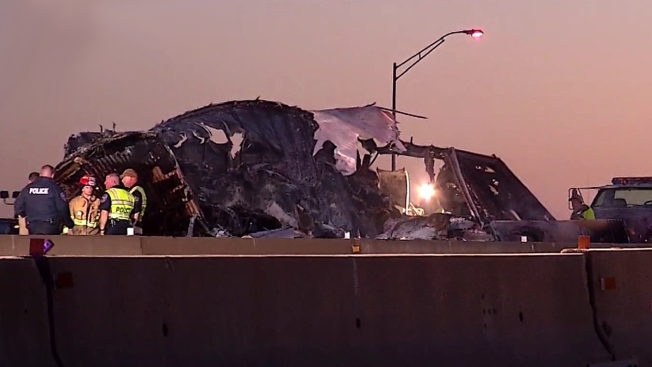 Interstate 35E Reopens in Waxahachie after Fiery 18-Wheeler Crash