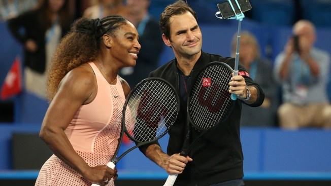 Federer on Winning Team After Facing Serena for 1st Time