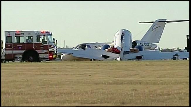 Small Passenger Jet Making Emergency Landing Crashes Into
