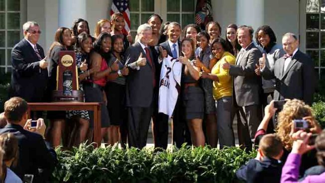 Texas A&M Ladies Basketball Praised by Obama