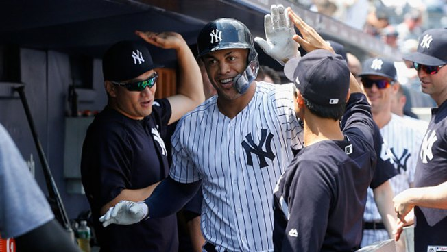 Sabathia, Stanton Lead Yankees Over Rangers