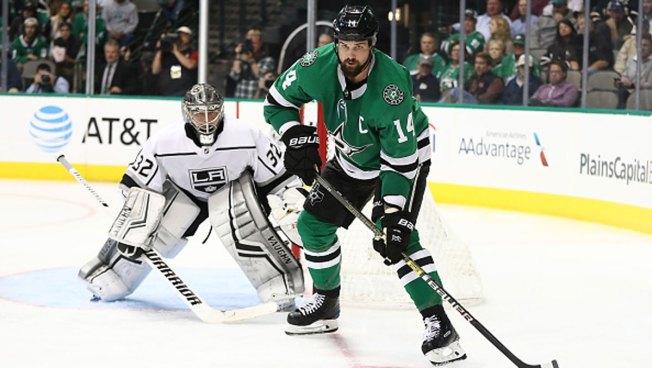 Benn's 5th Goal in 6 Games Helps Stars Beat Oilers