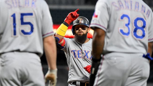 the latest e4c9f 0e599 Odor Homers in 6-Run 1st Inning, Rangers Beat Orioles 9-4 ...