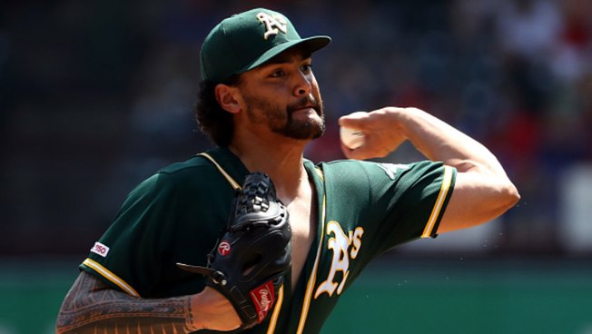 Manaea Throws 6 Scoreless, A's Beat Rangers for Sweep