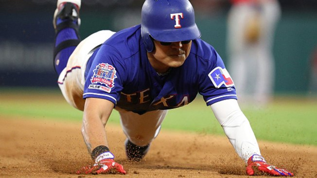 Choo's 3B Helps Rangers Finish Sweep of Angels