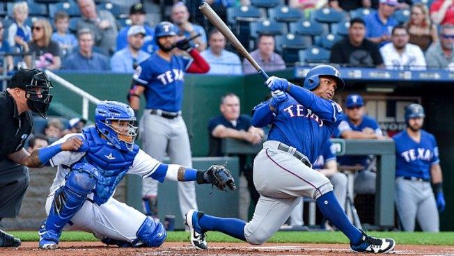 Guzman, Calhoun Go Deep as Rangers Roll Past Royals