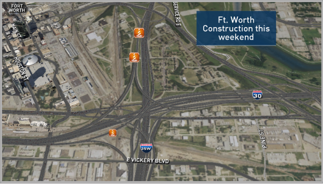 Construction Closures in Dallas and Fort Worth