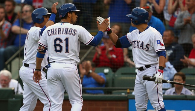 Rangers Go Deep 3 Times in 8-2 Win Over Weary Royals