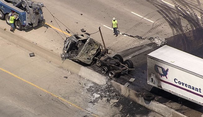 I-45 Back Open in Wilmer After Fiery 18-Wheeler Crash