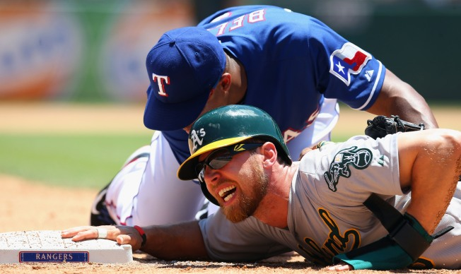 Athletics Finish Off 3-Game Sweep of Rangers