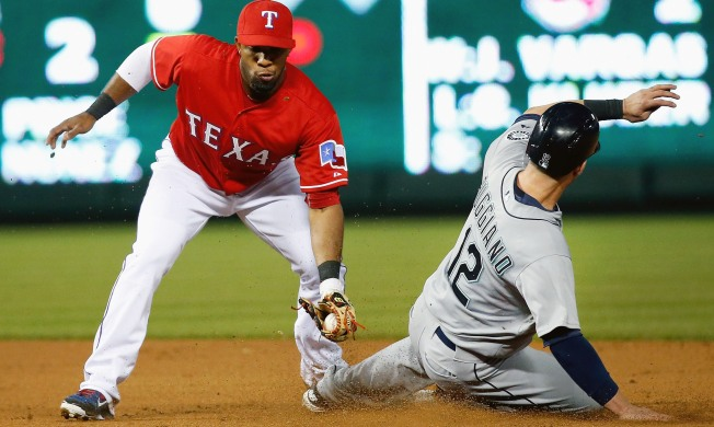 Happ Doubles Season K Mark, Mariners Win 2-1 at Texas