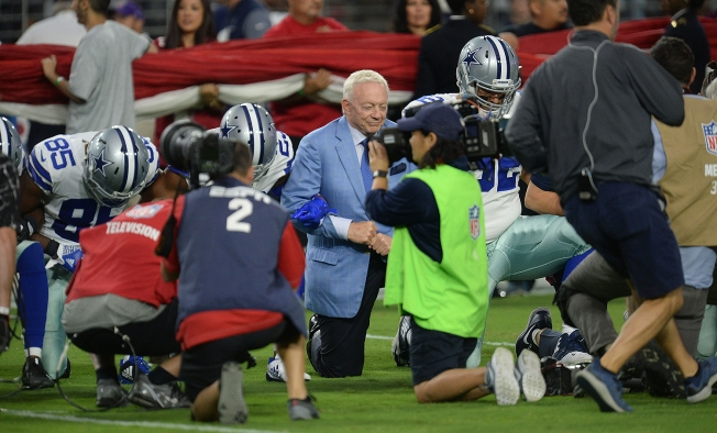 Cowboys owner threatens to bench any player 'disrespectful to the flag'