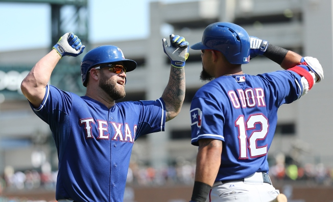 Napoli, Gimenez hit HRs as Rangers Top Tigers 4-2
