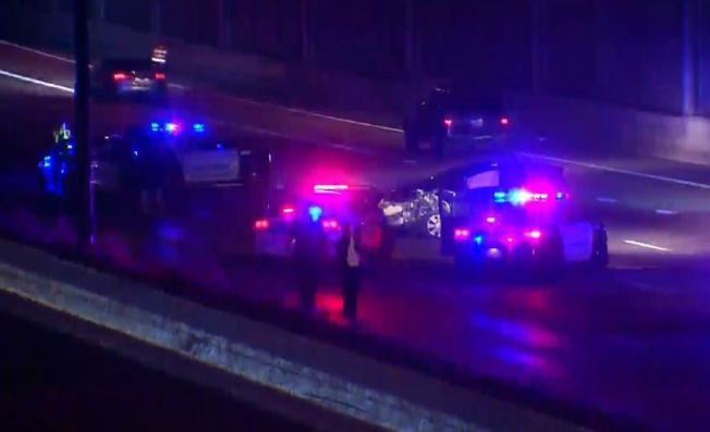 Dallas Police Vehicle Involved in Multi-Car Crash on U.S. 75