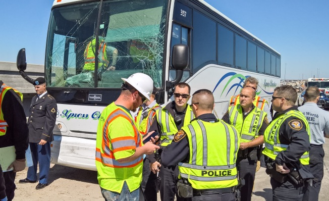 SB Interstate 35W Near Meacham Reopens After Tour Buses Crash