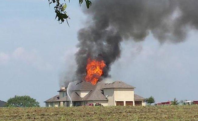 Massive House Fire in Denton County