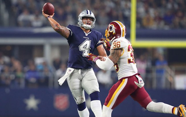 Rookies Lead Cowboys to 10th Straight, 31-26 Over Redskins