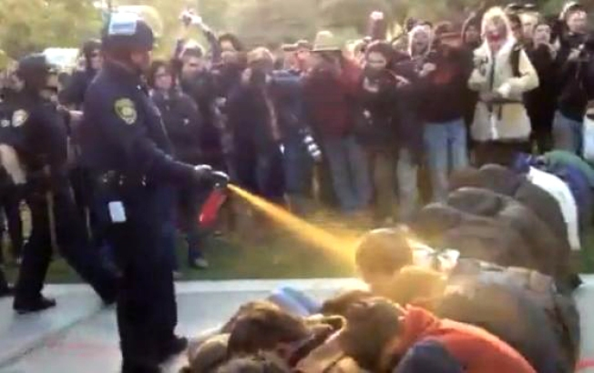 Cop Who Pepper-Sprayed Students at UC Davis Campus Seeks Workers Comp