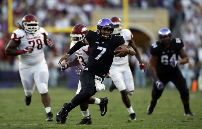 Arkansas gets wild double-OT win over No. 15 TCU, 41-38