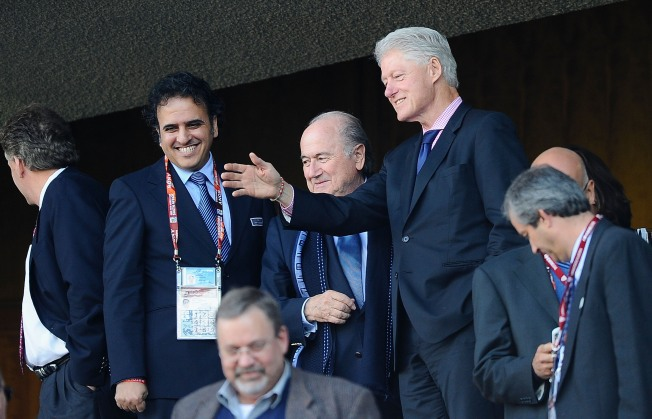 Clinton Cheers on Team at World Cup