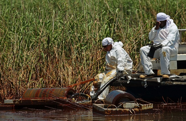 Red Tape Keeps La. Marsh Cleanup on Hold