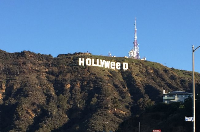 Iconic Sign Becomes 'Hollyweed' After Prankster Strikes Overnight