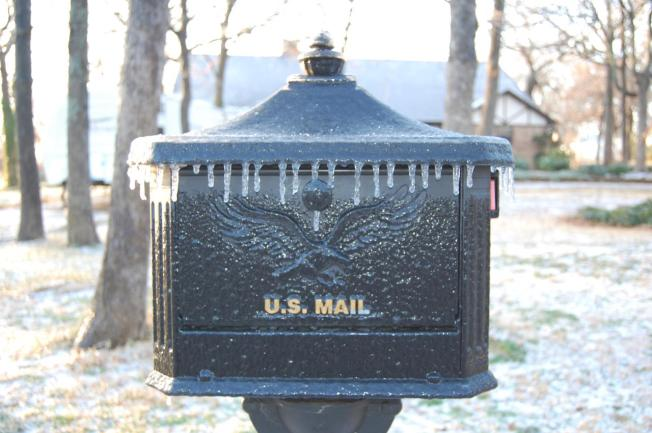 Neither Rain, Nor Sleet... Oops Maybe Ice Will Stop the Mail