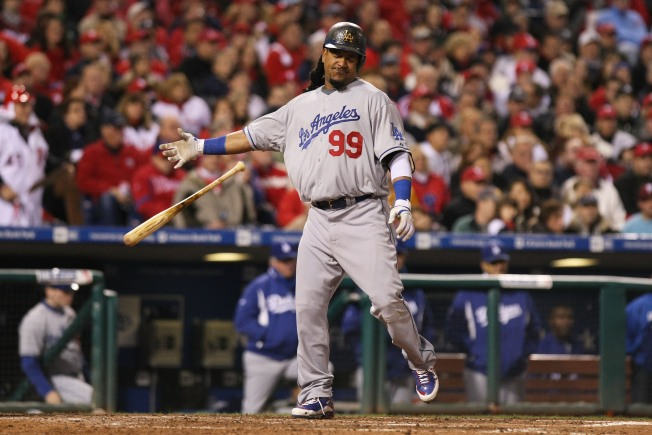 Manny Showers During Dramatic Ninth