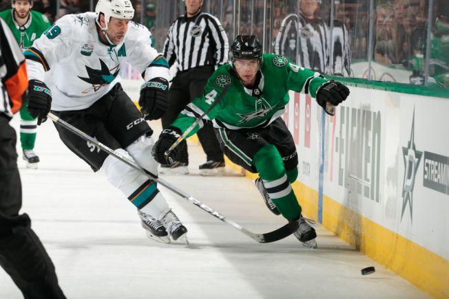 Heiskanen, Ritchie Score in 3rd, Stars Beat Sharks 3-2