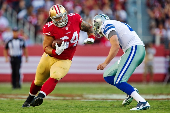 Defensive Lineman Mike Purcell's Pick-6 Highlight for 49ers