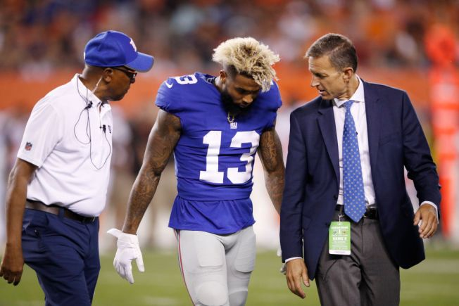 Beckham Out With Ankle Injury For Giants' Opener at Cowboys