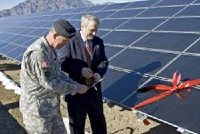 U.S. Military Finds Greener Ways to Operate