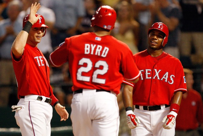 Bombs Blow Rangers Past Twins