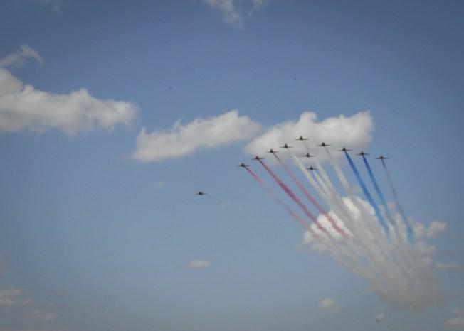 RAF's Red Arrows Arrive at NASJRB Fort Worth