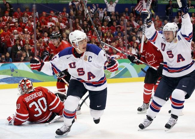 U.S. Hockey Team Stuns Gold Medal Favorite Canada