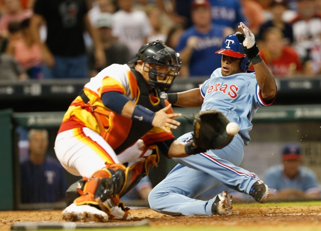 Odor Homers, Gets into Shouting Match as Rangers Beat Astros