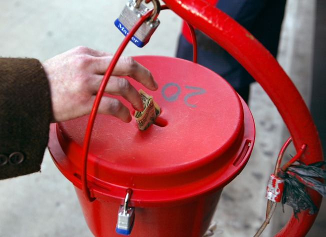 Grinch Grabs Salvation Army Kettle