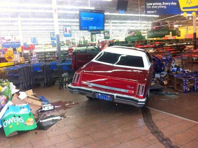 Man Drives Car into Calif. Walmart, Begins Beating Customers