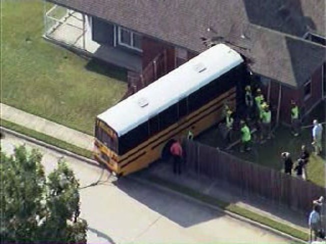 School Bus Makes Unscheduled Stop Into Bedroom