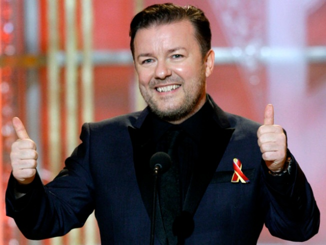 "Ricky Gervais ""Crossed The Line,"" Says HFPA President"