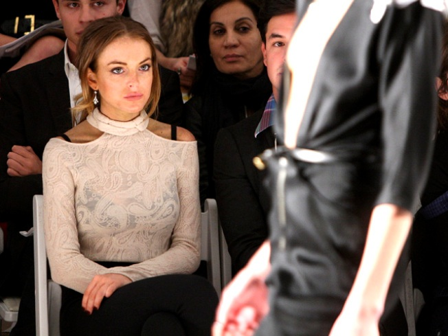 Lindsay Lohan Attacks NY Fashion Week, Denies 'Being Banned' Rumor