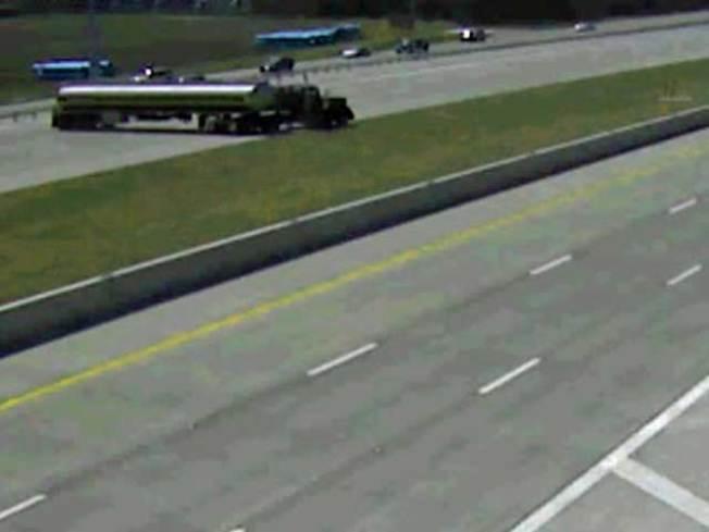 Video: DWI Suspect in Tanker Made U-Turn