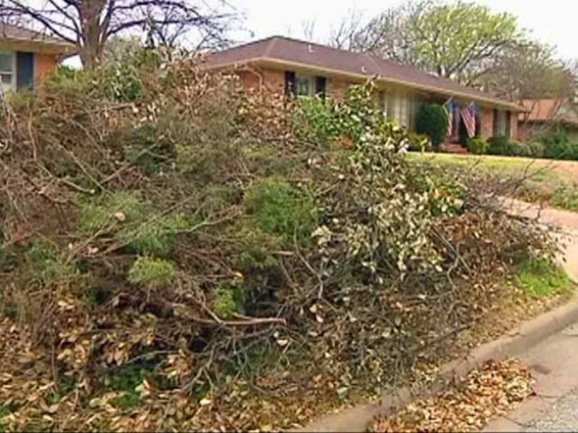 Slowly But Surely, Dallas Cleans Up Storm Debris
