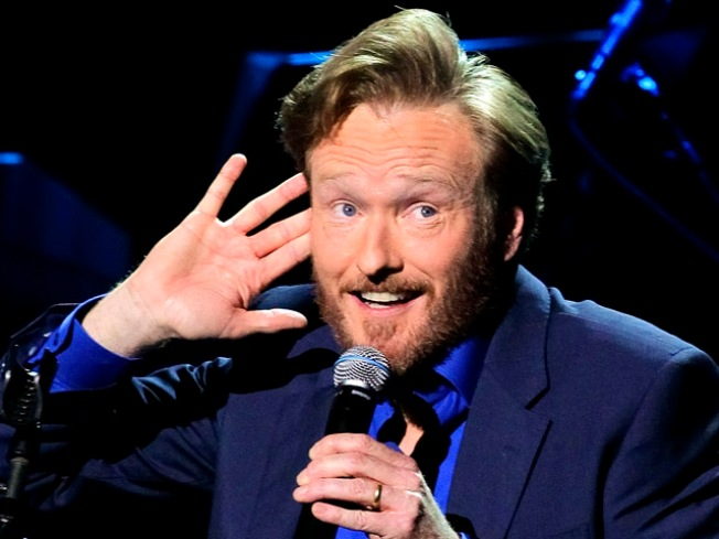 Conan O'Brien Drops the Needle on a Vinyl Record