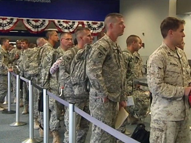 Troops Home for R&R Head Back to War on July 4