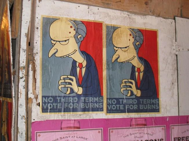 Excellent: New Yorkers Enlist Monty Burns for Mayor
