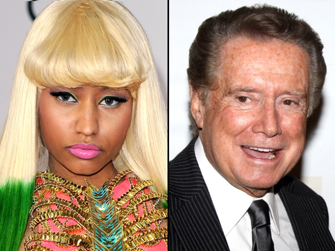 Oh Regis! Host's Hands Wander on Nicki Minaj