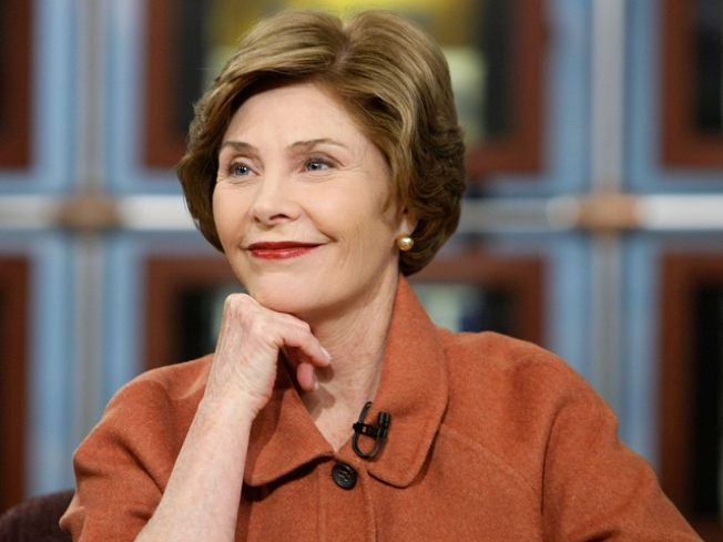 Laura Bush Given Birthday Serenade by Special Ed. Students